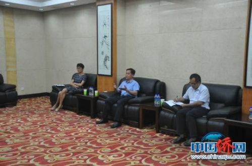 图为广西侨办主任秦春成讲话。林浩 摄