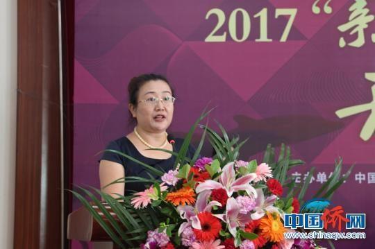 图为广西侨联海外联谊部部长曹红致辞。 邓惠文 摄