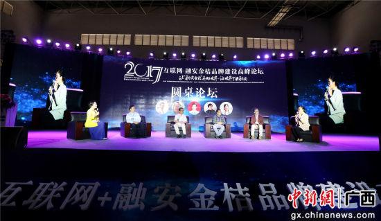 2017互联网+融安金桔品牌建设高峰论坛现场。谭凯兴 摄