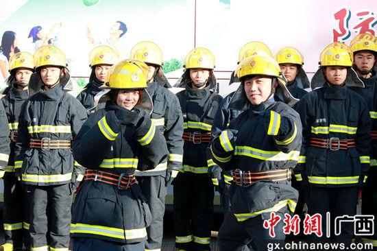 """""""消防员""""初体验。"""
