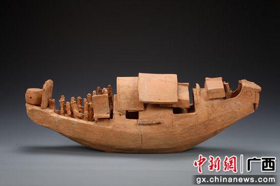"""开户送体验金文物保护与考古研究所的""""东汉附鼓俑红陶船"""""""