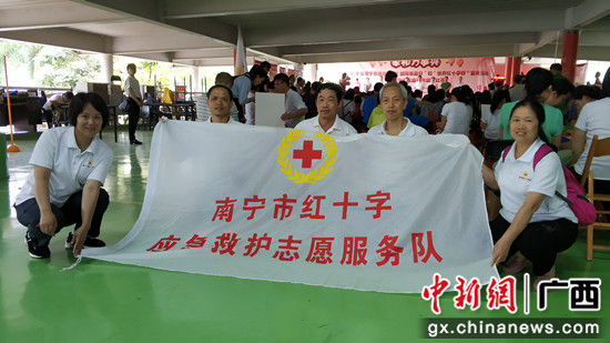 南宁市红十字应急救护志愿服务队志愿者。