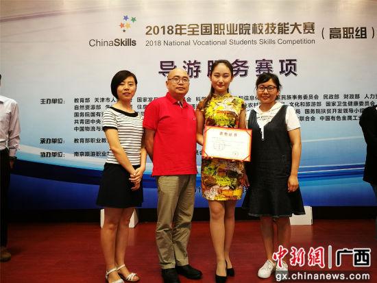 导游服务赛项二等奖团队。
