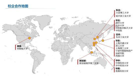 校企合作地图。 碧桂园88必发手机网页官网区域供图