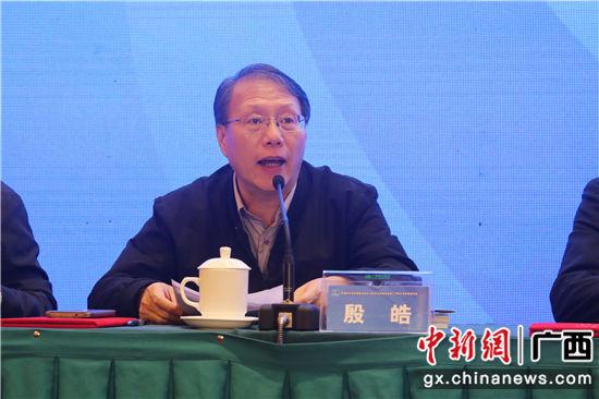 中国科协党组成员、中国科技馆馆长、中国科技馆发展基金会理事长殷皓致辞。 农立尧 摄