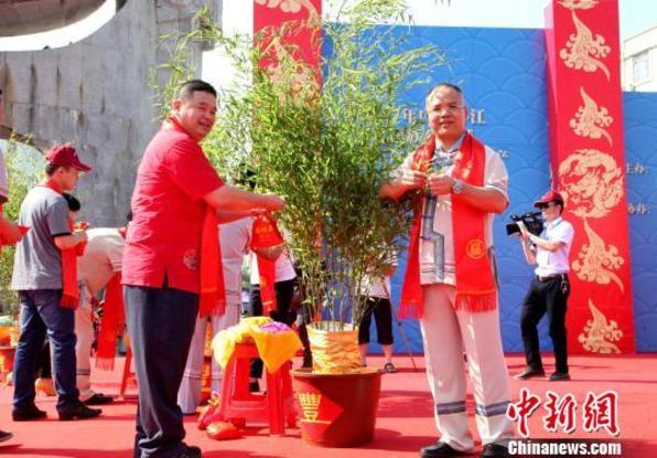 """广西环江""""分龙节""""举行神秘毛南祈福仪式"""