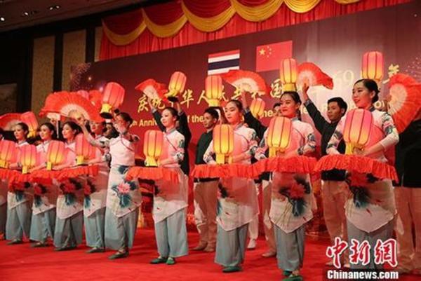 澳门美高梅网上娱乐驻泰国大使馆举行国庆69周年招待会