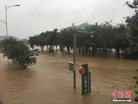 广西柳江柳州段出现超警戒水位 水位仍在上涨