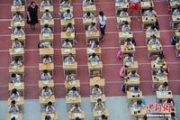南宁一学校350名一年级学生集体举行开笔礼