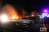 广西钦州一沥青罐车卸油作业时起火爆炸