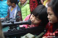 广西东兴警营开放 市民体验多警种警备