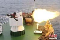 广西海警举行海上实弹射击演练