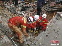 广西融安遭强降雨袭击 山体滑坡致3人死亡