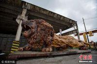 """废弃工厂藏楠木""""狮子王"""" 价值300万比火车车厢大"""