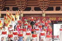 广西民间祭孔 邀外国留学生诵读《论语》