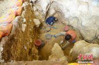 广西发现1.6万年前人类头骨化石 出土石制品万余件