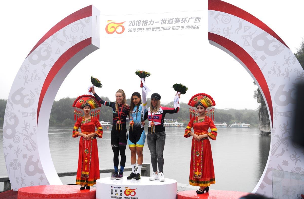 阿莱妮思获环广西女子公路自行车赛总成绩最佳