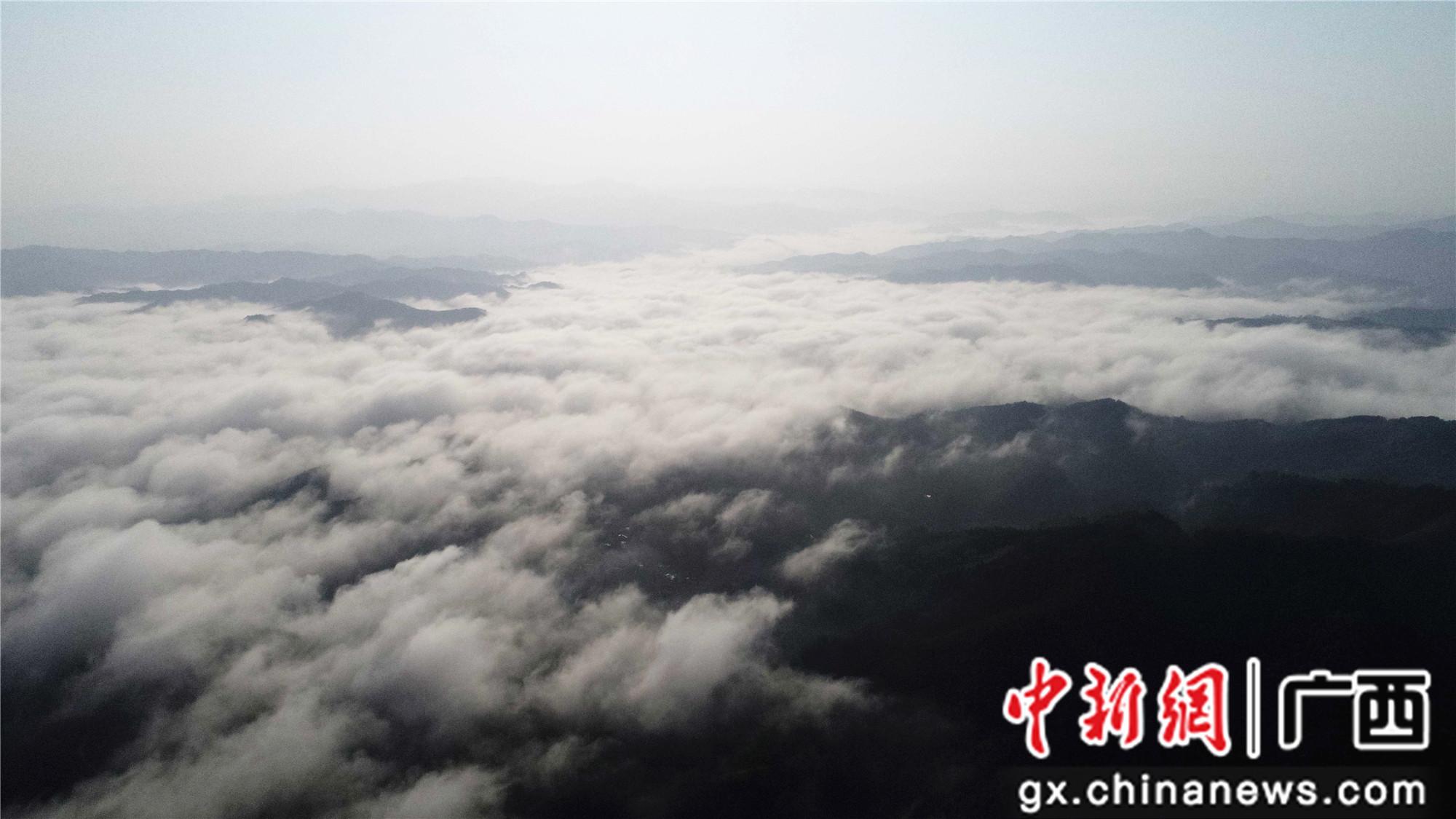 广西融安山区现秋日云海景观