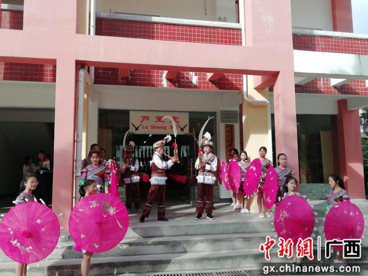 民族元素扎根广西融水校园