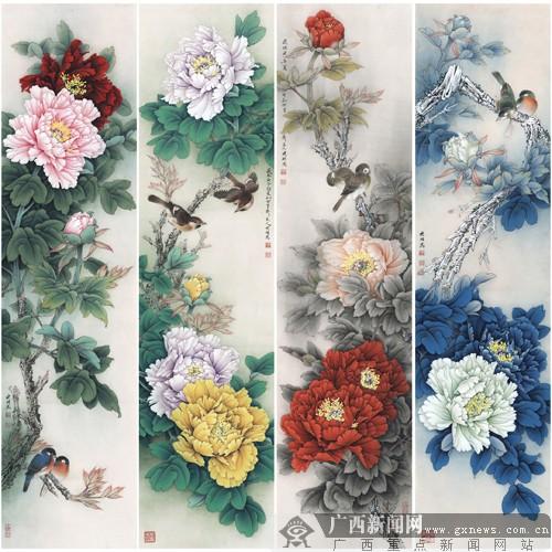 2014年李晓明工笔牡丹专题展 巡展 走进南宁