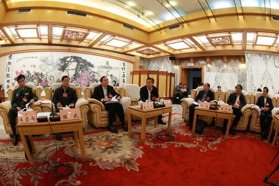 陈武参加南宁市代表团审议政府工作报告