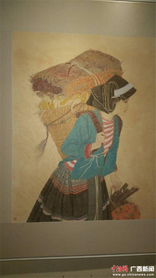 桂林中国画学院办画展 展广西少数民族人物风采