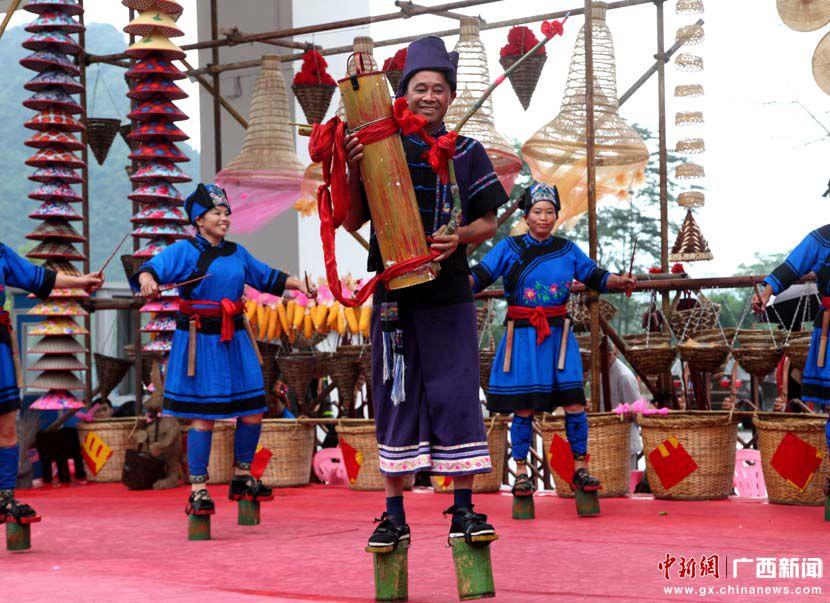 """广西都安瑶族""""祝著节""""展示特色民俗风情(高清)"""